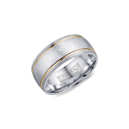 Torque Cobalt and Gold Wedding band CW105MY9 product image