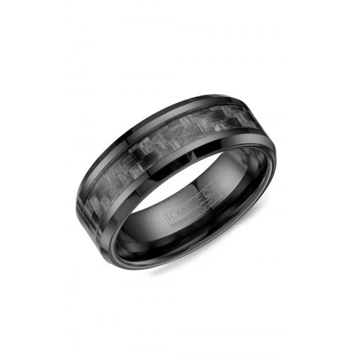 Torque Black Ceramic Wedding band BCE-0001 product image