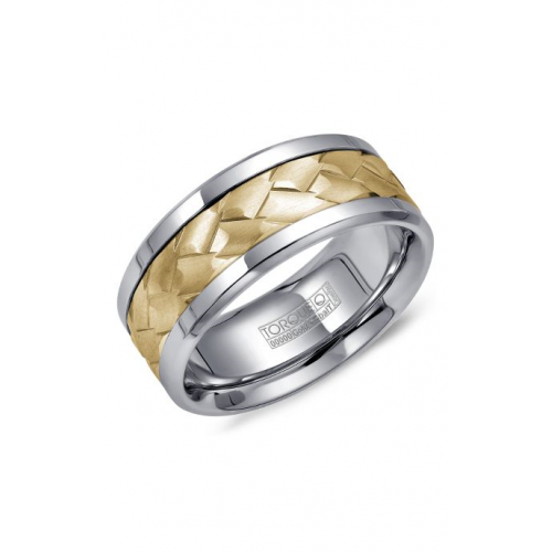 Torque Cobalt and Gold Wedding band CW006MY9 product image