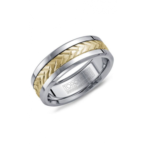 Torque Cobalt and Gold Wedding band CW007MY75 product image