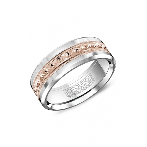 Torque Cobalt and Gold Wedding band CW016MR75 product image