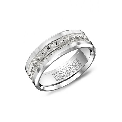 Torque Cobalt and Gold Wedding band CW016MW75 product image