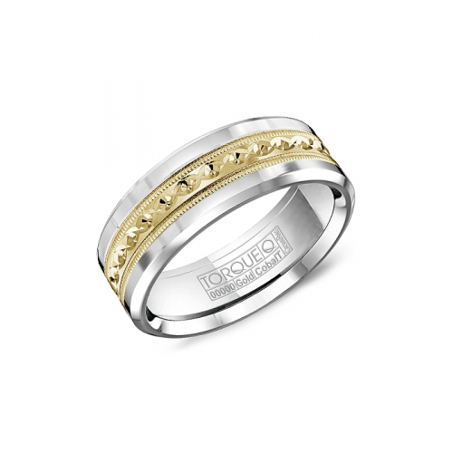 Torque Cobalt and Gold Wedding band CW016MY75 product image