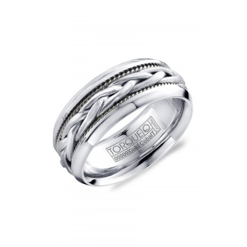 Torque Cobalt and Gold Wedding band CW019MWW9 product image