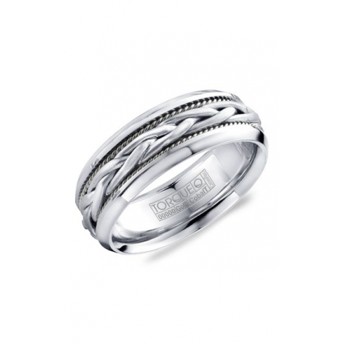 Torque Cobalt and Gold Wedding band CW019MWW75 product image
