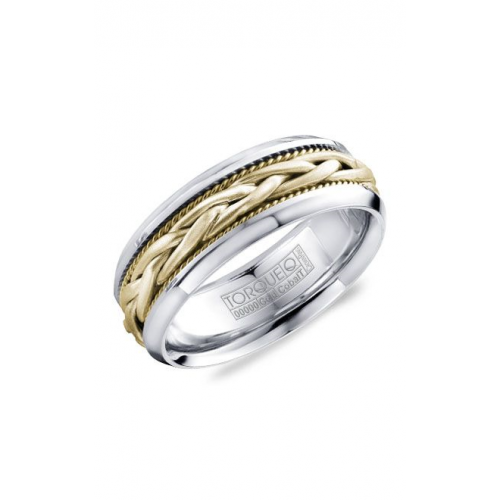 Torque Cobalt and Gold Wedding band CW019MYY75 product image