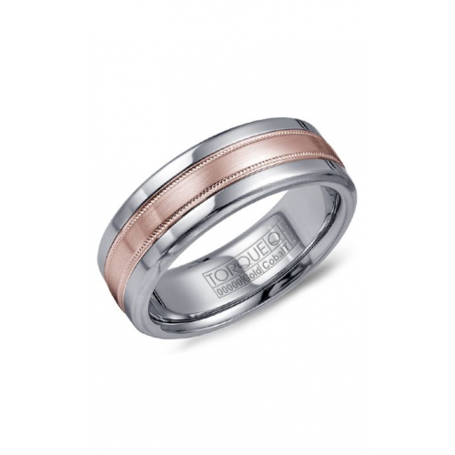 Torque Cobalt and Gold Wedding band CW020MR75 product image