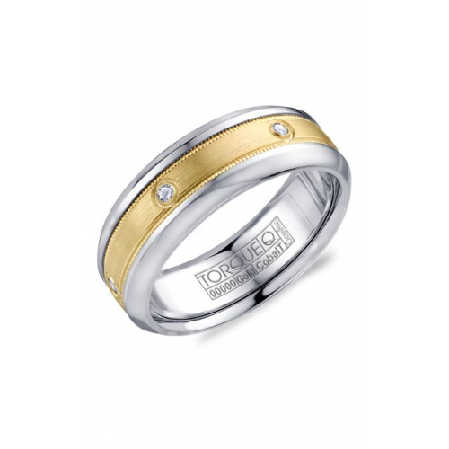 Torque Cobalt and Gold Wedding band CW087MY75 product image