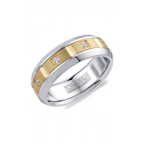 Torque Cobalt and Gold Wedding band CW088MY75 product image