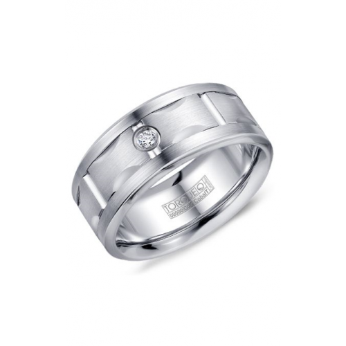 Torque Cobalt and Gold Wedding band CW108MW9 product image
