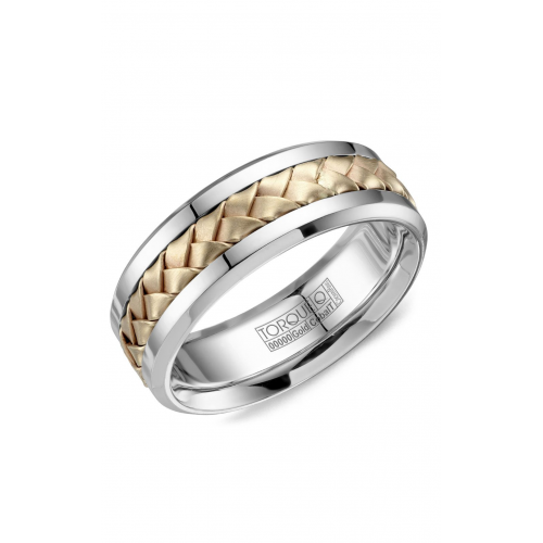 Torque Cobalt and Gold Wedding band CW111MY75 product image