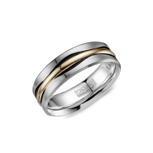 Torque Cobalt and Gold Wedding band CW112MY75 product image