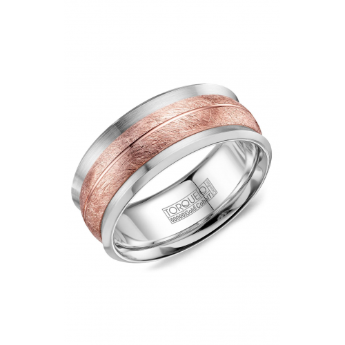 Torque Cobalt and Gold Wedding band CW114MR9 product image