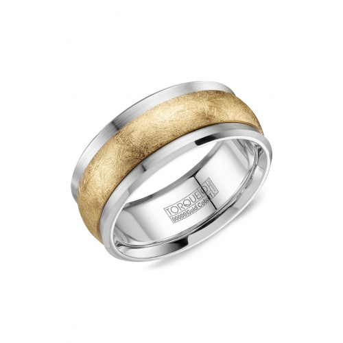 Torque Cobalt and Gold Wedding band CW115MY9 product image