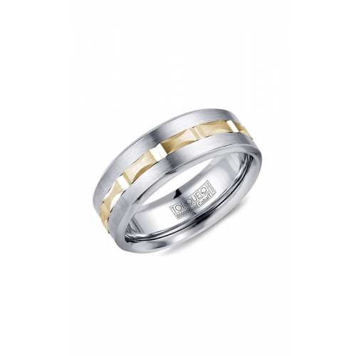 Torque Cobalt and Gold Wedding band CW104MY75 product image