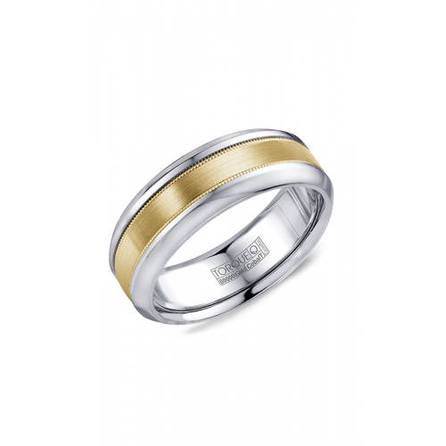 Torque Cobalt and Gold Wedding band CW109MY75 product image
