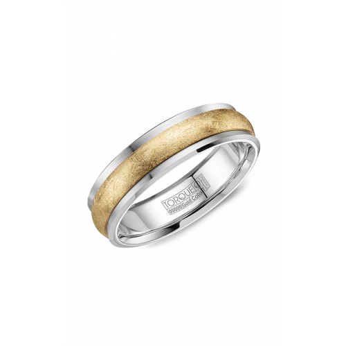 Torque Cobalt and Gold Wedding band CW115MY6 product image