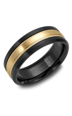 Torque Cobalt And Precious Metals Wedding Band CB035MY75 product image