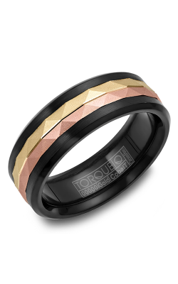 Torque Cobalt And Precious Metals Wedding Band CB075MRY75 product image