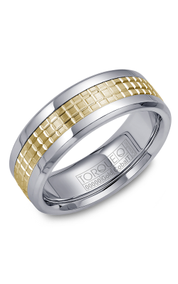 Torque Cobalt And Precious Metals Wedding Band CW009MY75 product image