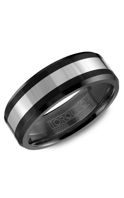 Torque Black Ceramic Wedding band TU-0031 product image