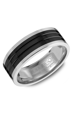Torque Black Ceramic Wedding band TU-0034 product image
