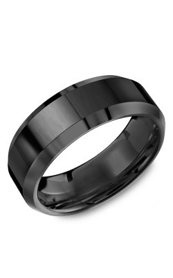 Torque Black Ceramic Wedding band TU-0037 product image
