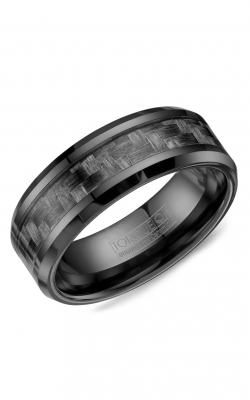 Torque Black Ceramic Wedding band BCE-0001 product image