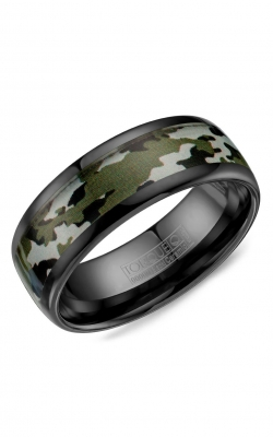 Torque Black Ceramic Wedding band BCE-0002 product image