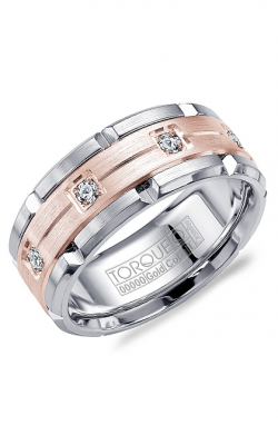 Torque Cobalt and Gold Wedding band CW046MR9 product image
