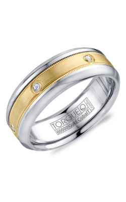 Torque Cobalt and Precious Metals Wedding band CW087MY75 product image