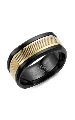 Torque Black Cobalt and Gold Wedding band CB074MY9 product image