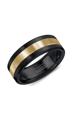 Torque Black Cobalt and Gold Wedding band CB082MY75 product image