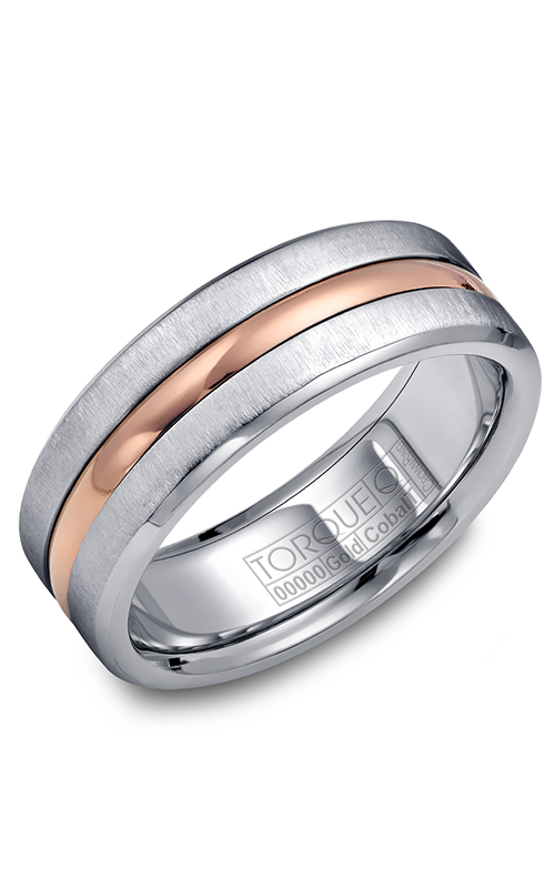 Torque Cobalt and Precious Metals Wedding band CW037MR75 product image