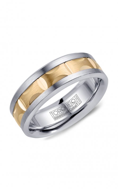 Torque Cobalt and Precious Metals Wedding band CW101MY75 product image