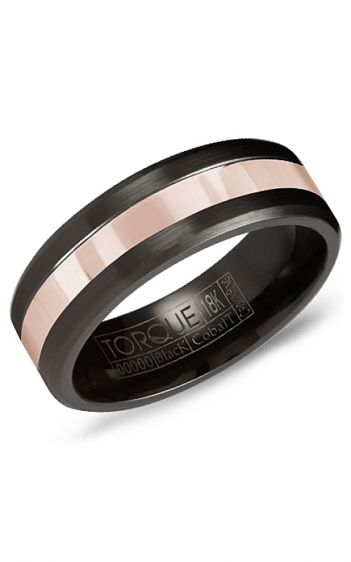 Torque Cobalt and Precious Metals Wedding band CB082MR75 product image