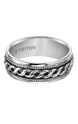 Triton Sterling Silver Wedding band 11-4930SV-G product image