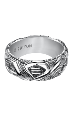Triton Sterling Silver Wedding band 11-4932SV-G product image