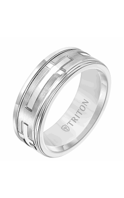 Triton Carved Wedding Band 11-2417WCW8-G product image
