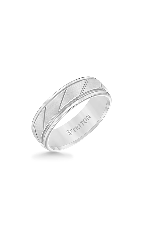 Triton Carved Wedding Band 11-2215HC-G product image