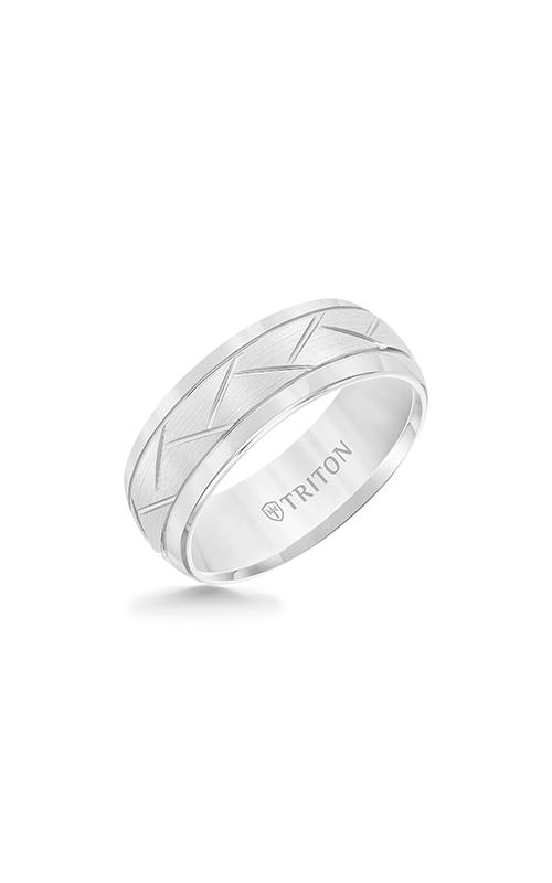 Triton Carved Wedding Band 11-2892HC-G product image