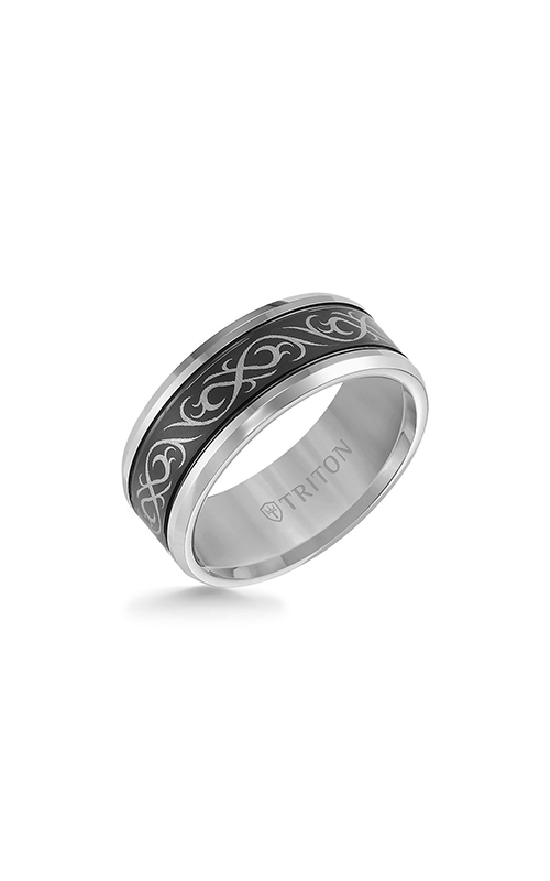 Triton Carved Wedding band 11-4208MC-G product image