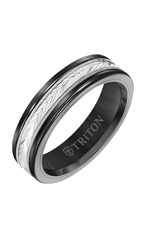 Triton Carved Wedding Band 11-2416BCW6-G product image