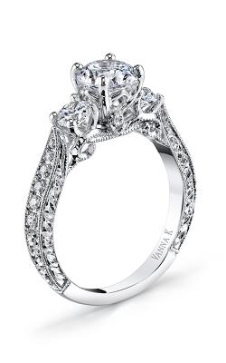 Vanna K Hand Engraved Engagement ring 18R997DCZ product image
