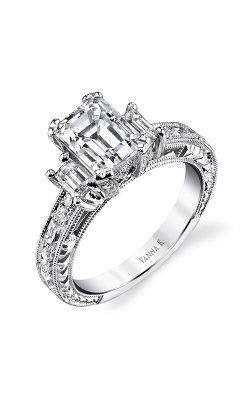 Vanna K Hand Engraved Engagement ring 18RGL00631DCZ product image