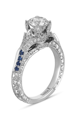 Vanna K Hand Engraved Engagement Ring 18RGL00218SDCZ product image