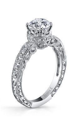 Vanna K Hand Engraved Engagement Ring 18RGL453DCZ product image