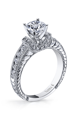 Vanna K Hand Engraved Engagement Ring 18RGL32427DCZ product image