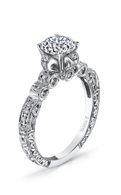 Vanna K Hand Engraved Engagement Ring 18RGL4511DCZ product image