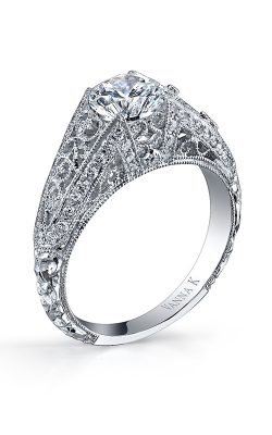 Vanna K Hand Engraved Engagement Ring 18RGL00314DCZ product image